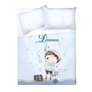 Детское постельное белье Даниил 1.5 сп поплин
