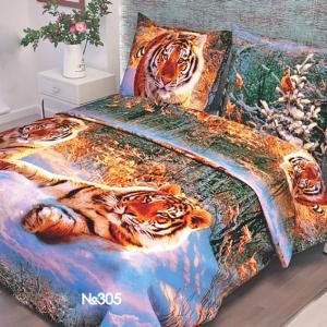 Ткань на отрез бязь о/м ГОСТ 150 см 305/1 Уссурийский тигр
