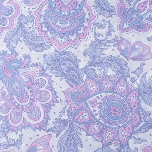 Ткань на отрез перкаль 150 см 13114/1 Лиловое пейсли