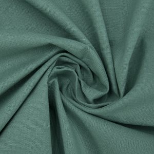 Ткань на отрез лен цвет изумрудный