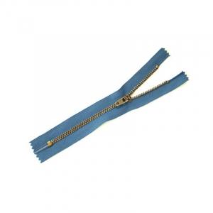 Молния джинсовая №4 антик н/р 16см D839 синий