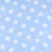 Ткань на отрез бязь плательная 150 см 1737/3 цвет голубой