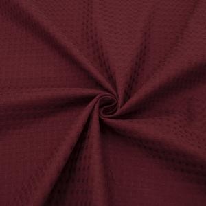Ткань на отрез вафельное полотно гладкокрашенное 150 см 240 гр/м2 7х7 мм цвет 036 цвет бордо