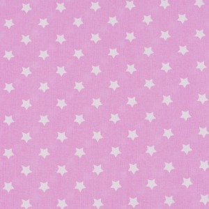 Ткань на отрез поплин 150 см 390/2 Звездочки цвет розовый