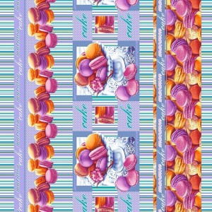 Вафельное полотно набивное 150 см 19578/1 Сладкая жизнь