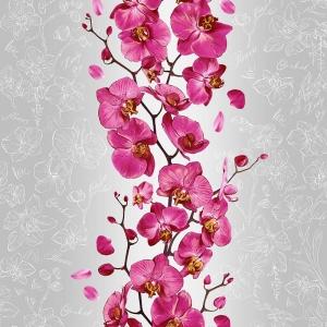 Полотно вафельное 50 см набивное арт 60 Тейково рис 35067 вид 2 Орхидея