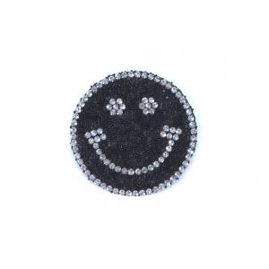 Термоаппликация ТАС 144 смайл черный 5см