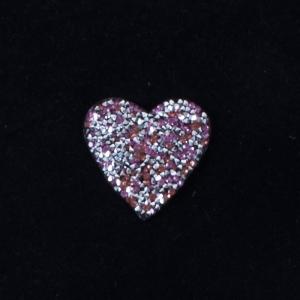 Термоаппликация ТАС 153 сердце розовое 5см