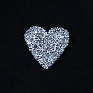 Термоаппликация ТАС 162 сердце серебро