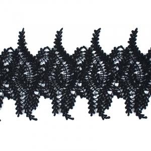 Кружево плетеное СЕВЕР черное SK-139 13см упаковка 10 м