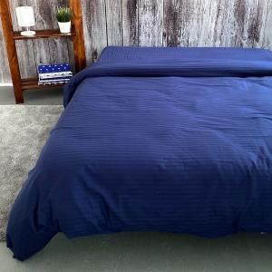 Пододеяльник страйп-сатин полоса 1х1 120 гр/м2 191/2 цвет синий Евро