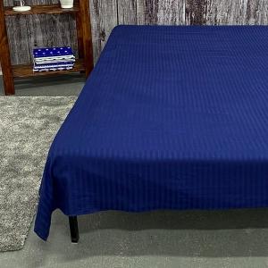 Простыня страйп-сатин полоса 1х1 120 гр/м2 191/2 цвет синий 1.5 сп