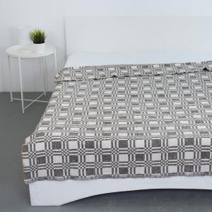 Одеяло байковое 140/200 цвет коричневый