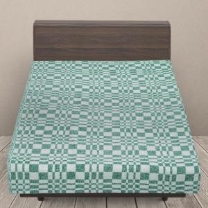 Одеяло байковое детское 100/140 цвет зеленый