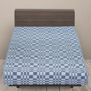 Одеяло байковое детское 100/140 цвет синий