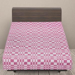 Одеяло байковое детское 100/140 цвет розовый