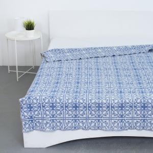 Одеяло байковое жаккардовое  145/200 цвет кельт синий