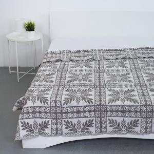 Одеяло байковое жаккардовое  185/200 цвет кельт коричневый