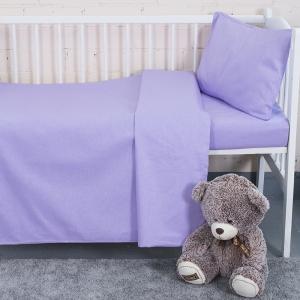 Постельное белье в детскую кроватку из бязи цвет сирень