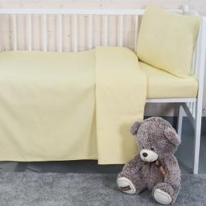 Постельное белье в детскую кроватку из бязи цвет желтый