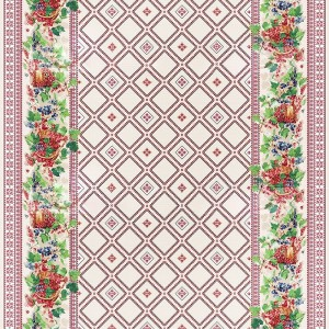 Ткань на отрез рогожка 150 см 10729/1 Сладкая ягода