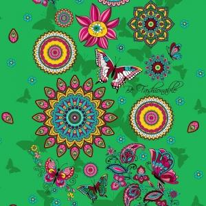 Ткань на отрез вафельное полотно 45 см 144 гр/м2 1763/2 цвет зеленый