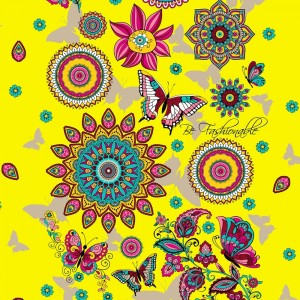Ткань на отрез вафельное полотно 45 см 144 гр/м2 1763/3 цвет желтый