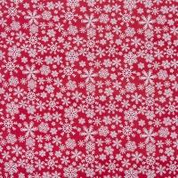 Ткань на отрез поплин 150 см 1827/2 цвет красный