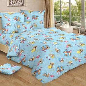 Постельное белье детское 7406/1 цвет голубой 1.5 сп.