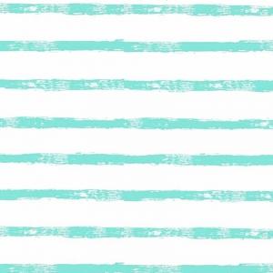 Ткань на отрез интерлок 40/1 Гребенное Яркая полоса мятная 5744-1