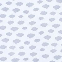 Ткань на отрез интерлок пенье Облака серые 5745-17