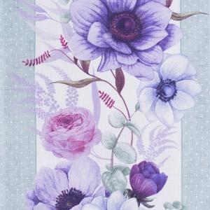 Полотно вафельное 50 см набивное арт 60 Тейково рис 30143 вид 1 Виолет