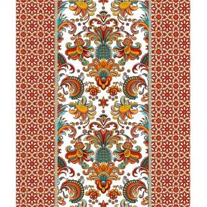 Полотно вафельное 50 см набивное арт 60 Тейково рис 5536 вид 1 Сокровища Персии