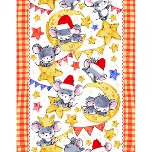 Полотно вафельное 50 см набивное арт 60 Тейково рис 5604 вид 3 Мышкина радость