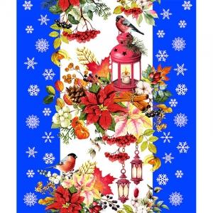 Полотно вафельное 50 см набивное арт 60 Тейково рис 5605 вид 2 Новогодняя сказка