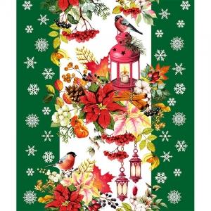 Полотно вафельное 50 см набивное арт 60 Тейково рис 5605 вид 3 Новогодняя сказка