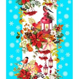 Полотно вафельное 50 см набивное арт 60 Тейково рис 5605 вид 4 Новогодняя сказка