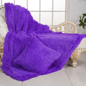 Покрывало-плед шиншилла 220/240 цвет фиолетовый