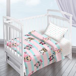 Постельное белье в детскую кроватку из перкаля 16142/1+13166/1