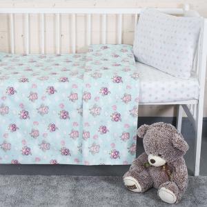 Постельное белье в детскую кроватку из перкаля 13177/1+13167/1