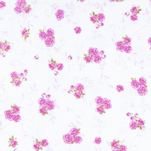 Ткань на отрез фланель б/з 140 см цветок цвет розовый