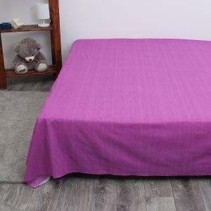 Простыня перкаль 2049312 Эко 12 пурпурный 2 сп