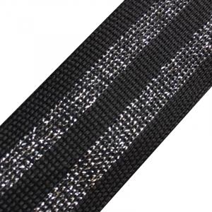 Лампасы №26 черная серебро черная серебро с люрексом 3 см уп 10 м