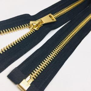 Молния металл №8ТТ светлое золото разъем 75см D580 черный