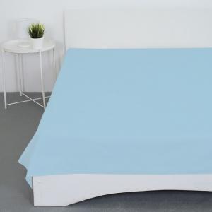 Простынь бязь гладкокрашеная цвет голубой 1.5 сп
