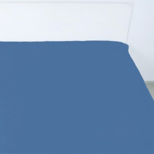 Простынь на резинке поплин цвет индиго 140/200/20 см
