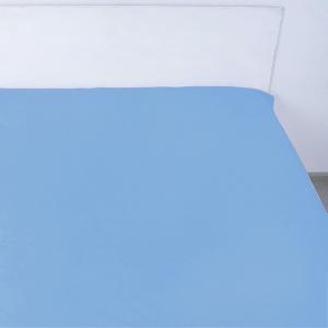 Простынь на резинке поплин цвет лазурный 140/200/20 см