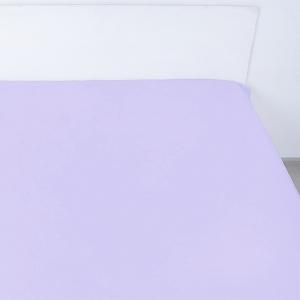 Простынь на резинке поплин цвет сирень 140/200/20 см