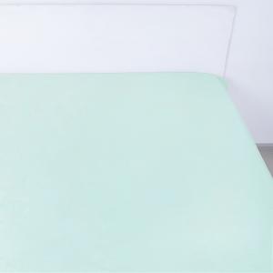 Простынь на резинке поплин цвет мята 140/200/20 см