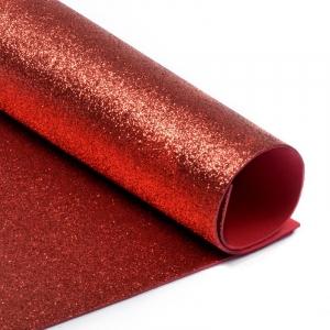 Фоамиран глиттерный Magic 4 Hobby 2 мм арт.MG.GLIT.H001 цв.красный, 20х30 см